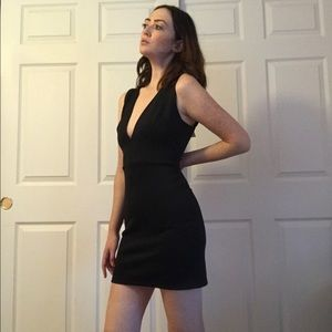 NWT Little Black Dress with Plunging Neck